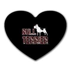 Bull Terrier  Heart Mousepads by Valentinaart
