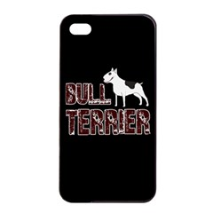 Bull Terrier  Apple Iphone 4/4s Seamless Case (black) by Valentinaart
