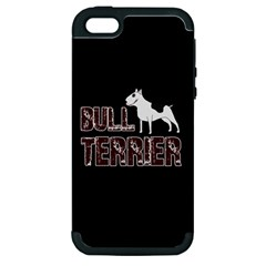 Bull Terrier  Apple Iphone 5 Hardshell Case (pc+silicone) by Valentinaart