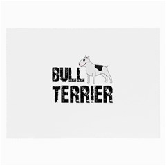 Bull Terrier  Large Glasses Cloth by Valentinaart