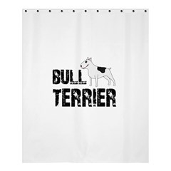 Bull Terrier  Shower Curtain 60  X 72  (medium)  by Valentinaart