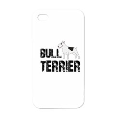Bull Terrier  Apple Iphone 4 Case (white) by Valentinaart