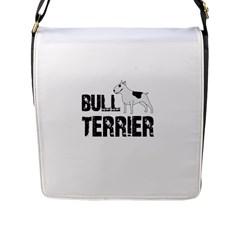 Bull Terrier  Flap Messenger Bag (l)  by Valentinaart