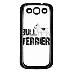 Bull Terrier  Samsung Galaxy S3 Back Case (black) by Valentinaart