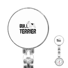Bull Terrier  Stainless Steel Nurses Watch by Valentinaart