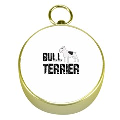 Bull Terrier  Gold Compasses by Valentinaart
