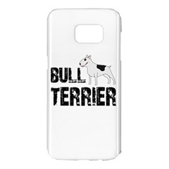 Bull Terrier  Samsung Galaxy S7 Edge Hardshell Case by Valentinaart