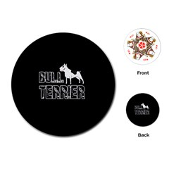 Bull Terrier  Playing Cards (round)  by Valentinaart