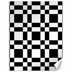 Checkerboard Black And White Canvas 12  X 16   by Colorfulart23