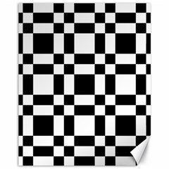 Checkerboard Black And White Canvas 11  X 14   by Colorfulart23