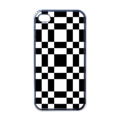 Checkerboard Black And White Apple Iphone 4 Case (black) by Colorfulart23