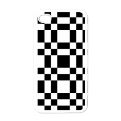 Checkerboard Black And White Apple Iphone 4 Case (white) by Colorfulart23