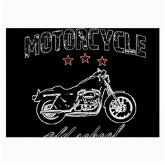 Motorcycle Old School Large Glasses Cloth by Valentinaart