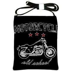 Motorcycle Old School Shoulder Sling Bags by Valentinaart