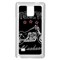 Motorcycle Old School Samsung Galaxy Note 4 Case (white) by Valentinaart