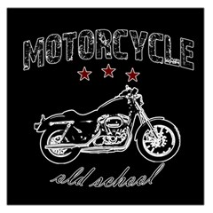 Motorcycle Old School Large Satin Scarf (square) by Valentinaart