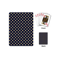 Navy/gold Polka Dots Playing Cards (mini)  by Colorfulart23