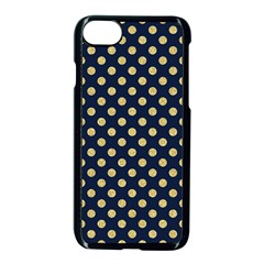 Navy/gold Polka Dots Apple Iphone 7 Seamless Case (black) by Colorfulart23