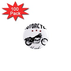 Motorcycle Old School 1  Mini Magnets (100 Pack)  by Valentinaart
