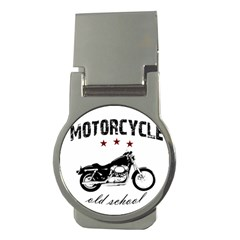 Motorcycle Old School Money Clips (round)  by Valentinaart