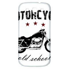 Motorcycle Old School Samsung Galaxy S3 S Iii Classic Hardshell Back Case by Valentinaart