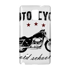 Motorcycle Old School Samsung Galaxy Note 4 Hardshell Case by Valentinaart