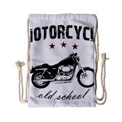 Motorcycle Old School Drawstring Bag (small) by Valentinaart