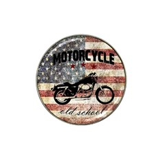 Motorcycle Old School Hat Clip Ball Marker by Valentinaart