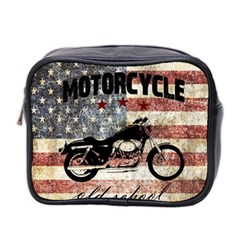 Motorcycle Old School Mini Toiletries Bag 2 Side by Valentinaart