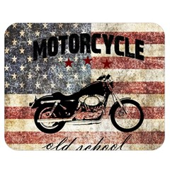 Motorcycle Old School Double Sided Flano Blanket (medium)  by Valentinaart