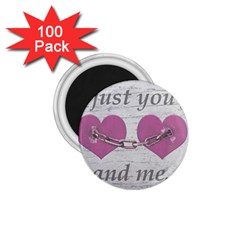 Shabby Chich Love Concept Poster 1 75  Magnets (100 Pack)  by dflcprints