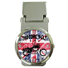 Motorcycle Old School Money Clip Watches by Valentinaart