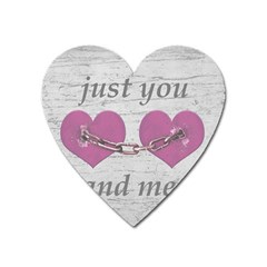 Shabby Chich Love Concept Poster Heart Magnet by dflcprints