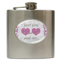 Shabby Chich Love Concept Poster Hip Flask (6 Oz) by dflcprints
