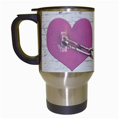 Shabby Chich Love Concept Poster Travel Mugs (white) by dflcprints