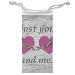 Shabby Chich Love Concept Poster Jewelry Bag by dflcprints