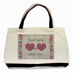 Shabby Chich Love Concept Poster Basic Tote Bag by dflcprints