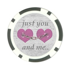 Shabby Chich Love Concept Poster Poker Chip Card Guard by dflcprints