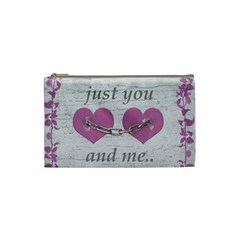 Shabby Chich Love Concept Poster Cosmetic Bag (small)  by dflcprints