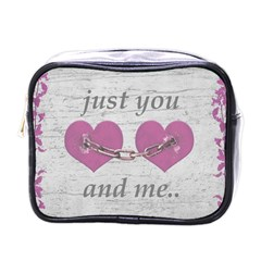 Shabby Chich Love Concept Poster Mini Toiletries Bags by dflcprints