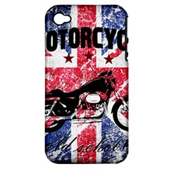 Motorcycle Old School Apple Iphone 4/4s Hardshell Case (pc+silicone) by Valentinaart