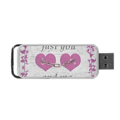 Shabby Chich Love Concept Poster Portable Usb Flash (two Sides) by dflcprints