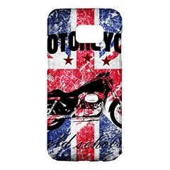 Motorcycle Old School Samsung Galaxy S7 Edge Hardshell Case by Valentinaart