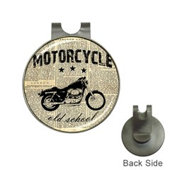 Motorcycle Old School Hat Clips With Golf Markers by Valentinaart