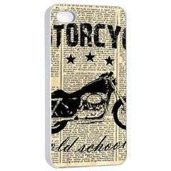 Motorcycle Old School Apple Iphone 4/4s Seamless Case (white) by Valentinaart