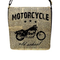 Motorcycle Old School Flap Messenger Bag (l)  by Valentinaart