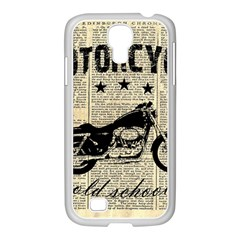 Motorcycle Old School Samsung Galaxy S4 I9500/ I9505 Case (white) by Valentinaart