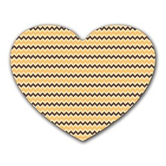 Colored Zig Zag Heart Mousepads by Colorfulart23