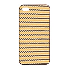 Colored Zig Zag Apple Iphone 4/4s Seamless Case (black) by Colorfulart23