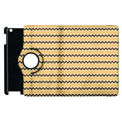 Colored Zig Zag Apple Ipad 2 Flip 360 Case by Colorfulart23